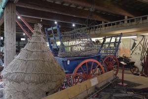 Farm Gallery display showing hayrick and farm cart