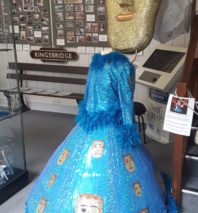 'A Night at the BAFTAs' carnival costume, part of the display in the Duncombe Room