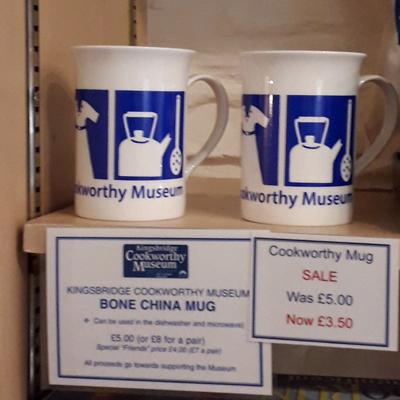Cookworthy Museum bone china mugs